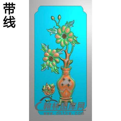 HP-7039什木厂花瓶背板精雕图110-230(QTP-075)