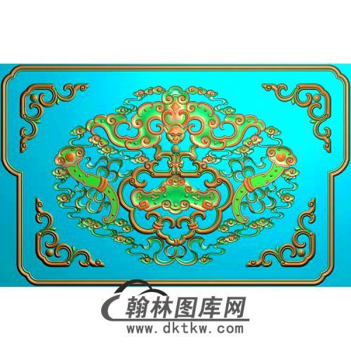 飞仙椅后花板无线精雕图(BF-647)