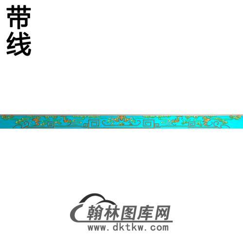 龙凤床蝙蝠牙料脚一对 - 副本精雕图(BF-659)