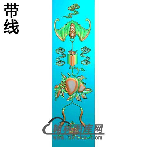 中式书柜蝙蝠门板112-387精雕图(BF-676)