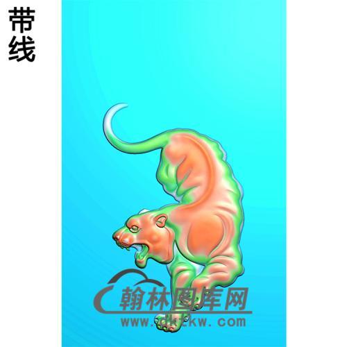 DW-064-动物系列虎精雕图(H-002)