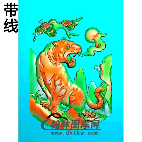 LH-002老虎精雕图(H-005)