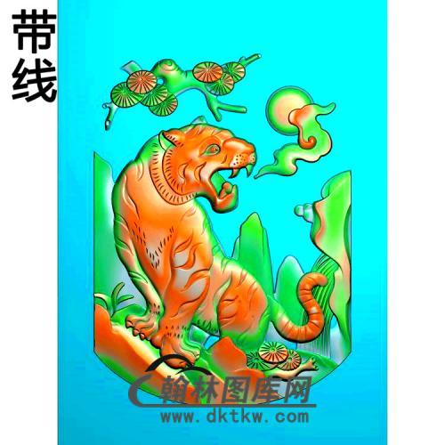QTDW-325-老虎精雕图(H-007)