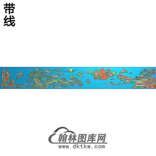 SH-265-松鹤山水图精雕图(SH-306)