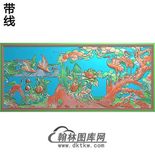 SH-266-松鹤牡丹图精雕图(SH-307)