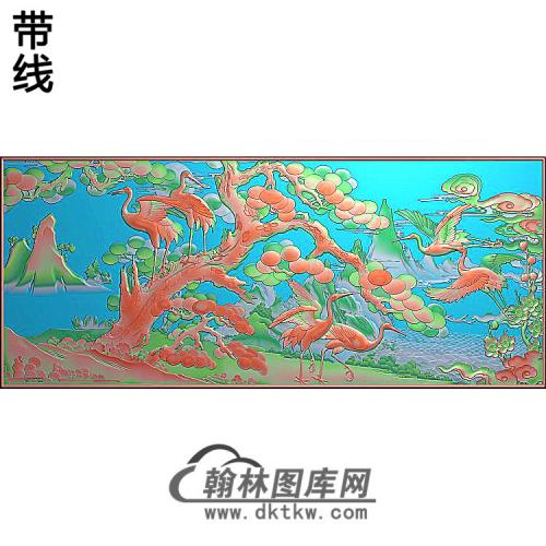 SH-272-松鹤梅花精雕图(SH-311)