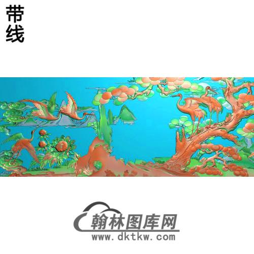 SH-466-松鹤精雕图(SH-332)