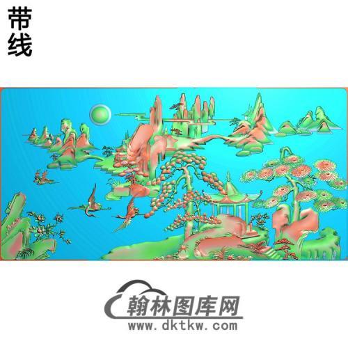 SSJZ-2016松鹤山水精雕图(SH-336)