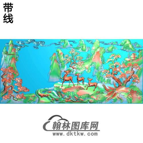 SSJZ-2210山水精雕图(SH-338)