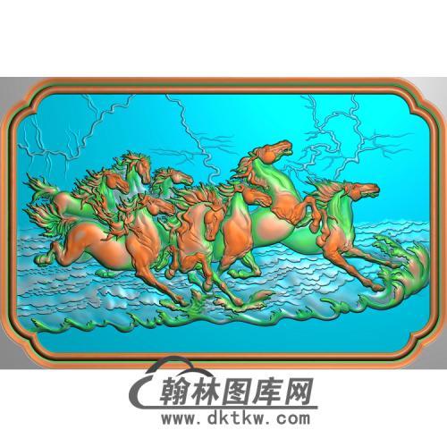 八骏马0无线精雕图(JM-041)