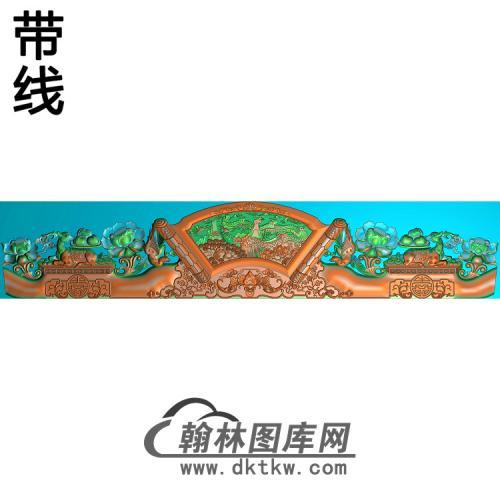 精品长城床图(新)精雕图(JM-048)