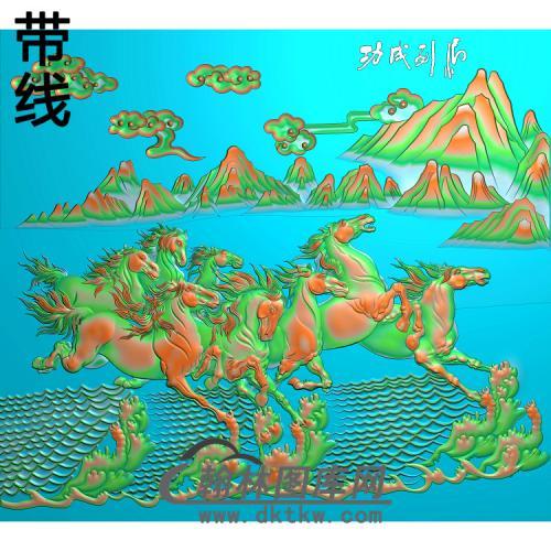 骏马图002_AUTOSAVE精雕图(JM-050)