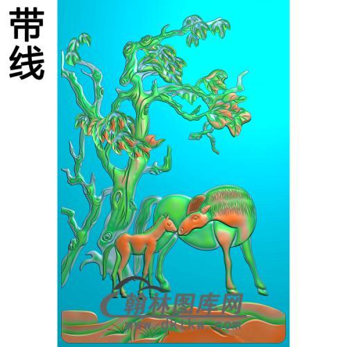 马精雕图(JM-056)