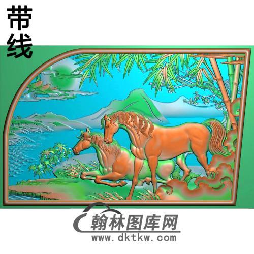 梅竹骏马精雕图(JM-061)