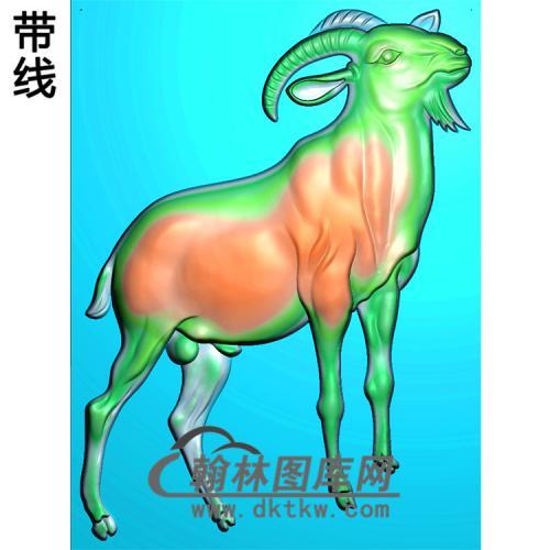DW-072-动物系列羊无线精雕图(Y-003)