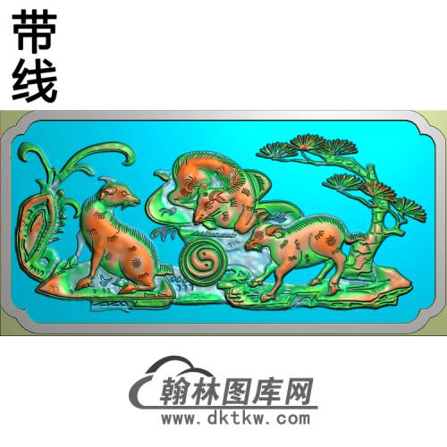 SESX-321-三羊开泰精雕图(Y-006)