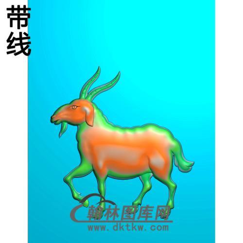SXY-529-羊精雕图(Y-008)