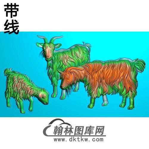 羊精雕图(Y-013)