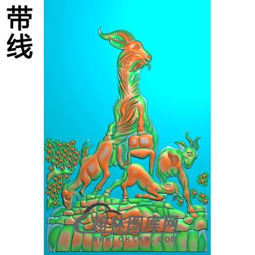 羊02精雕图(Y-014)