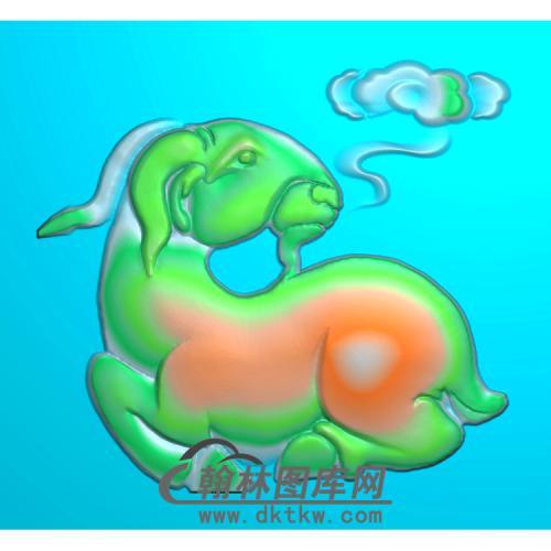 羊祥云精雕图无线(Y-017)