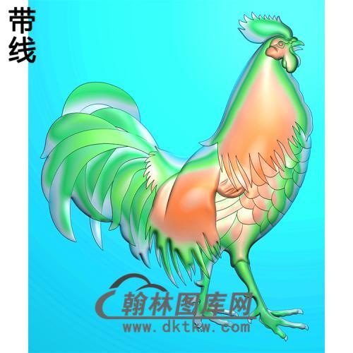 DW-065-动物系列鸡精雕图(J-003)