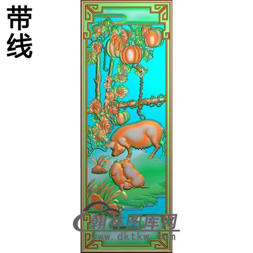 455猪精雕图(Z-001)