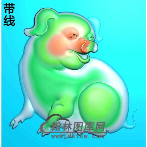 DW-073-动物系列猪精雕图(Z-004)