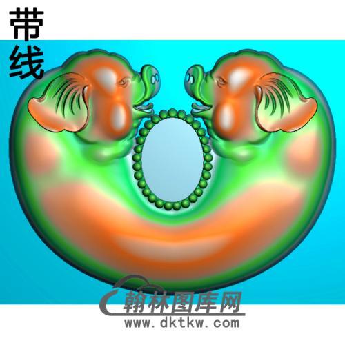 GJ-022-小双猪精雕图(Z-005)