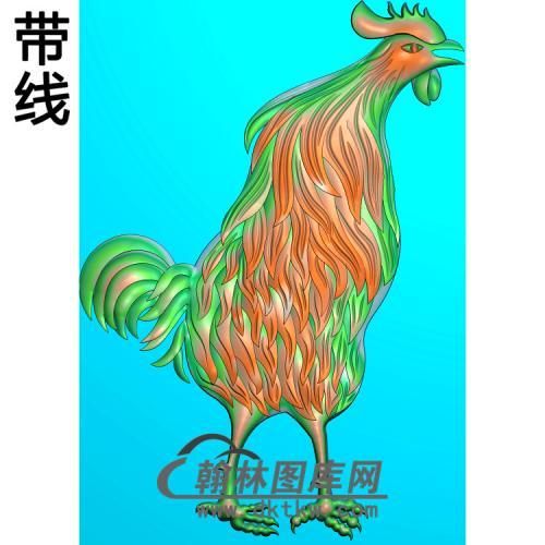 动物 鸡精雕图(Z-010)