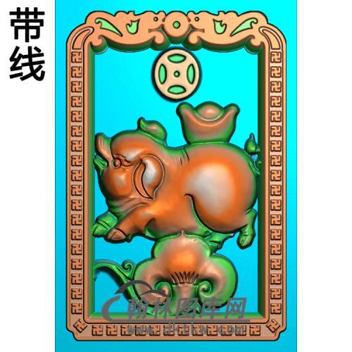 十二生肖猪精雕图(Z-011)