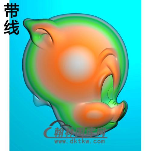 猪头精雕图(Z-013)