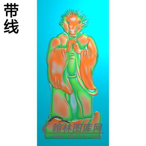 猪仙335X720X6精雕图(Z-014)