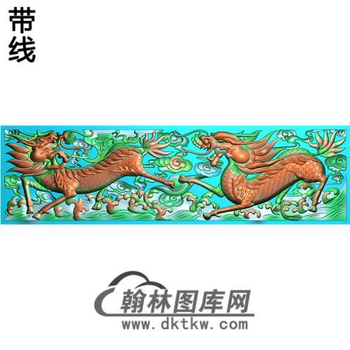 DW-106-动物系列麒麟精雕图(QL-006)