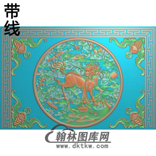 麒麟八宝精雕图(QL-063)