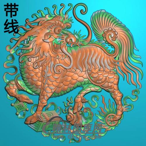 麒麟兽精雕图(QL-066)