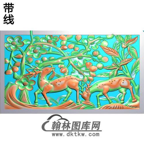HD-223-花草动物系列精雕图(L-010)