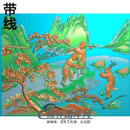 SSRW-1344-鹿乳奉亲精雕图(L-021)