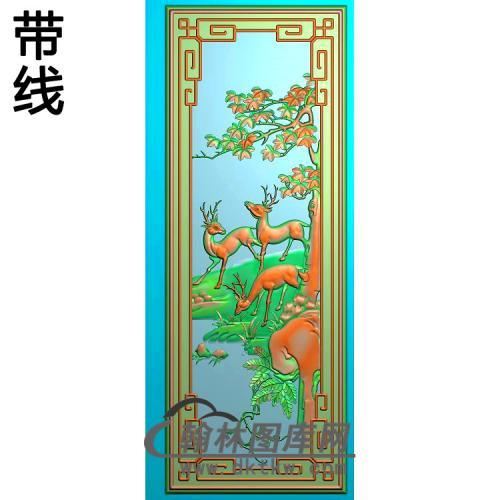 小如意鹿(11年十月三号)精雕图(L-028)