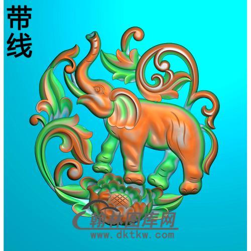 DW-058-动物系列大象精雕图(DX-005)
