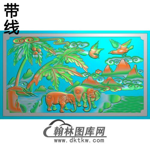 HD-178-花草动物系列精雕图(DX-015)