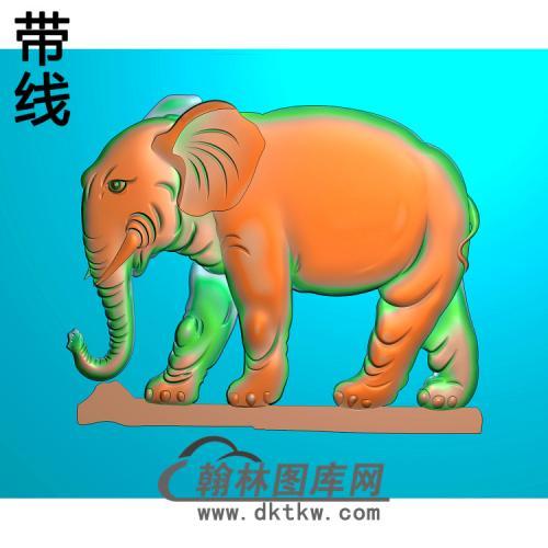 大象12精雕图(DX-029)