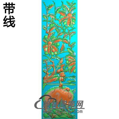 大象猴子精雕图改400X1429X15(DX-030)