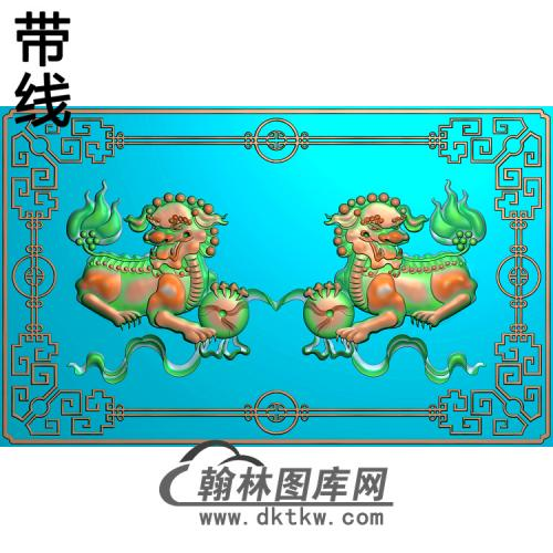 SZ-301-狮子舞绣球精雕图(SZ-019)