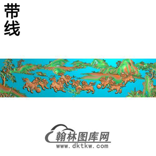 SZ-303-群狮精雕图(SZ-021)