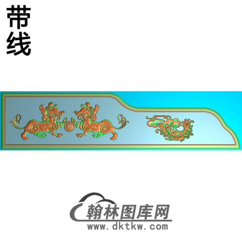 两侧狮子精雕图(SZ-039)