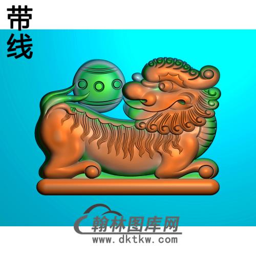 狮子精雕图(SZ-041)