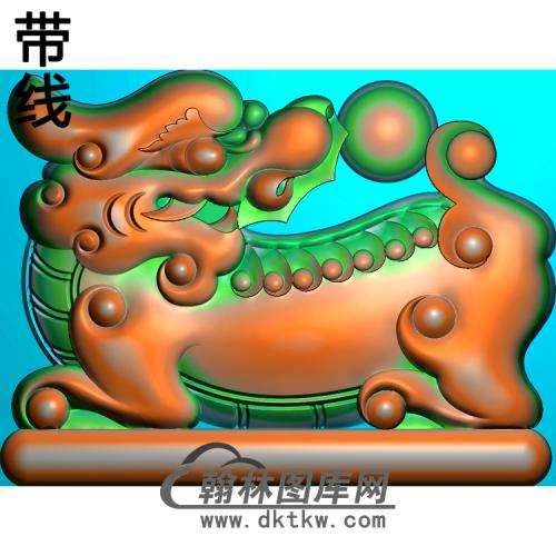 一强09沙发边上狮子118+90精雕图(SZ-049)