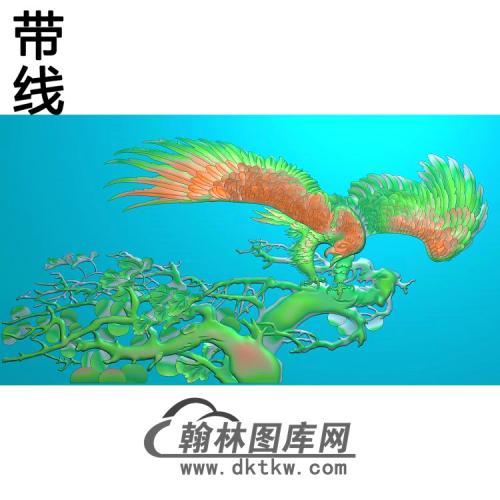 583鹰有线精雕图(HNY-002)