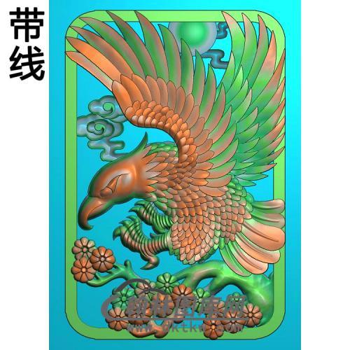 DW-036-动物系列老鹰有线精雕图(HNY-005)