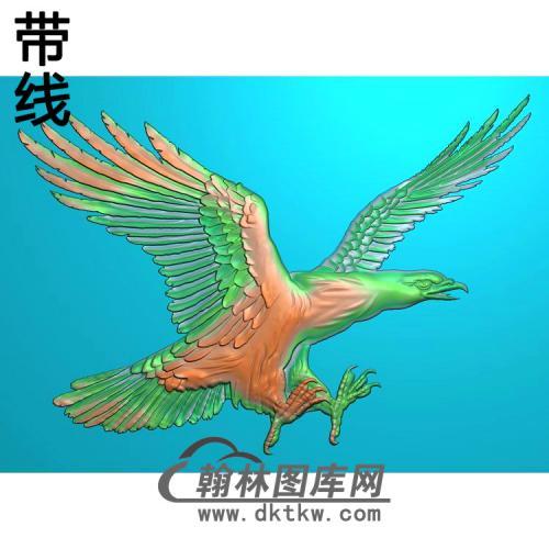 DW-043-动物系列鹰有线精雕图(HNY-006)